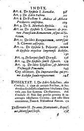 Selecta historiae ecclesiasticae capita: et in loca ejusdem insignia, dissertationes historicae, chronologicae, criticae, dogmaticae. Saeculi I ; Pars 1, Volume 1