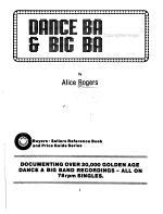Dance Bands   Big Bands PDF