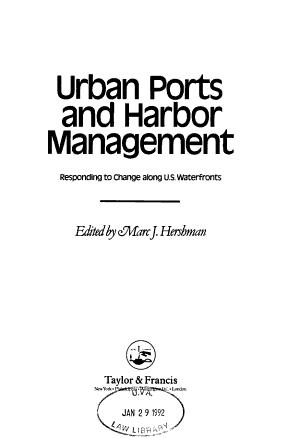 Urban Ports and Harbor Management