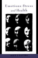 Emotions  Stress  and Health PDF