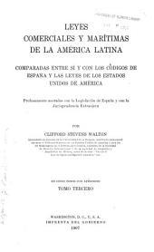 Leyes comerciales y marítimas de la América latina: Parte marítime