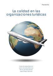 La calidad en las organizaciones turísticas