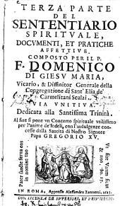 Sententiario spirituale: documenti, et pratiche affettive, Volume 1