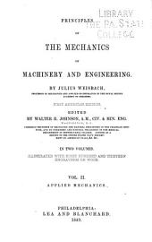 Principles of the Mechanics of Machinery and Engineering: Applied mechanics
