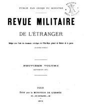 Revue militarie de l'étranger: Volume9