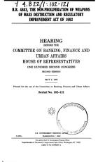 H R  4803  the Non Proliferation of Weapons of Mass Destruction and Regulatory Improvement Act of 1992 PDF