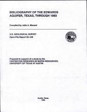 Bibliography of the Edwards Aquifer  Texas  Through 1993 PDF