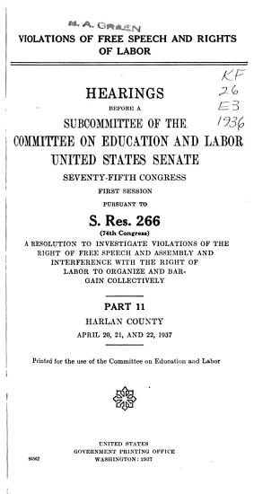 Hearings  Reports and Prints of the Senate Committee on Education and Labor PDF