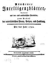 Münchner Intelligenzblatt: 1791
