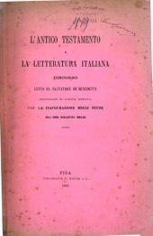 L'antico testamento e la letteratura italiana: discorso