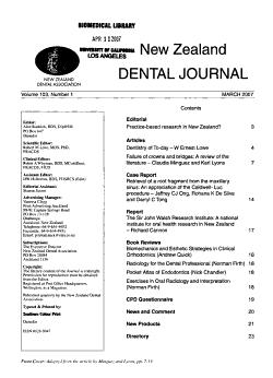 New Zealand Dental Journal PDF