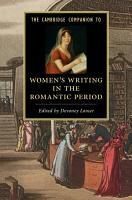The Cambridge Companion To Women S Writing In The Romantic Period
