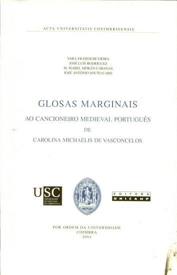 Glosas marginais ao cancioneiro medieval portugu  s PDF