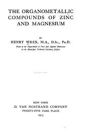 The Organometallic Compounds of Zinc and Magnesium