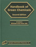 Handbook of Green Chemicals PDF