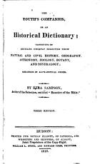 The Youth s Companion  Or  An Historical Dictionary PDF