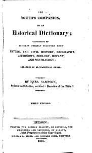 The Youth s Companion  Or  An Historical Dictionary Book