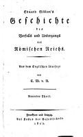 Geschichte des verfalls und untergangs des R  mischen Reichs PDF