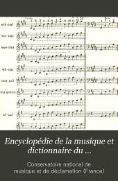Encyclopédie de la musique et dictionnaire du Conservatoire ...: Antiquité
