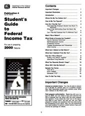Internal Revenue Service Tax Information Publications: Volumes 1-2; Volume 20001, Issue 1