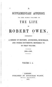 The Life of Robert Owen: Volume 1