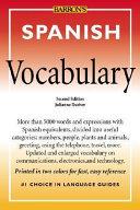 Spanish Vocabulary Book PDF
