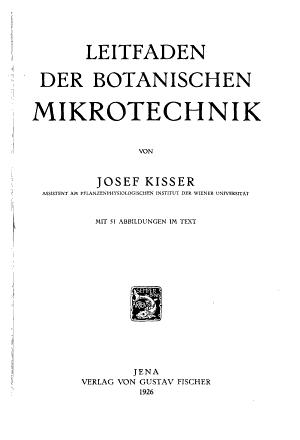 Leitfaden der botanischen mikrotechnik PDF