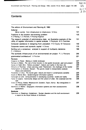Environment and Planning PDF