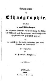 Grundlinien der Ethnographie
