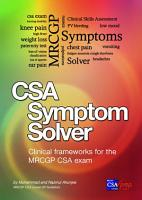 CSA book  MRCGP CSA Symptom Solver PDF