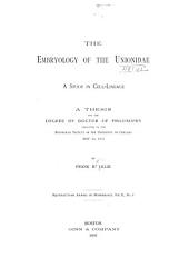 The Embryology of the Unionidae