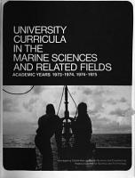 University Curricula in the Marine Sciences and Related Fields PDF