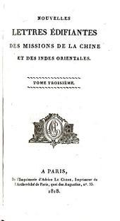 Nouvelles lettres édifiantes des missions de la Chine et des Indes Orientales: Volume3