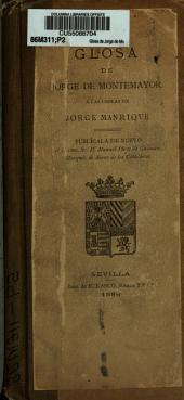 Glosa de Jorge de Montemayor á las Coplas de Jorge Manrique