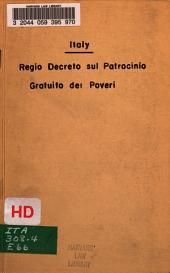 Regio decreto sul patrocinio gratuito dei poveri