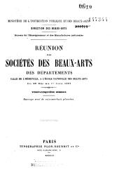 Réunion des sociétés des Beaux-Arts des départements à la Sorbonne: 1901