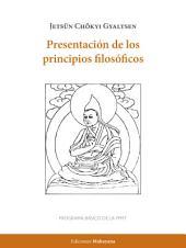 Presentación de los principios filosóficos