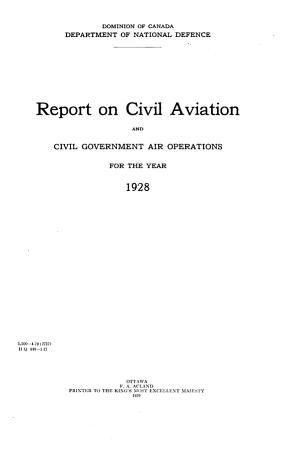 Civil Aviation in Canada PDF