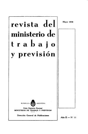Revista del Ministerio de Trabajo y Previsi  n PDF