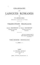 Grammaire des langues romanes: Morphologie