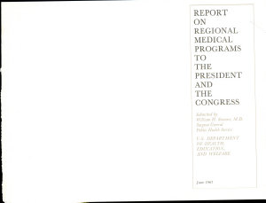 Report on regional medical programs to the President and the Congress PDF