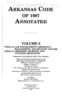Arkansas Code of 1987 Annotated PDF