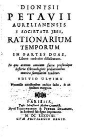 Rationarium temporum
