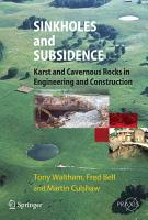 Sinkholes and Subsidence PDF