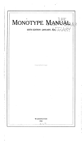 Monotype Manual