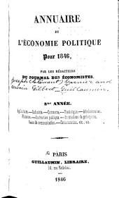 Annuaire de l'économie politique ...: Volume3