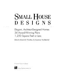 Small House Designs PDF