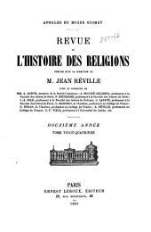 Revue de l'histoire des religions: Volume24