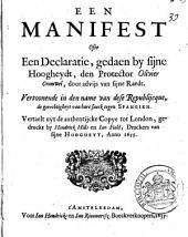 Een manifest ofte een declaratie: Volume 1