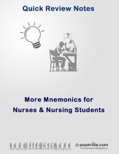 More Mnemonics for Nurses and Nursing Students: Quick review study notes for health profesionals and students